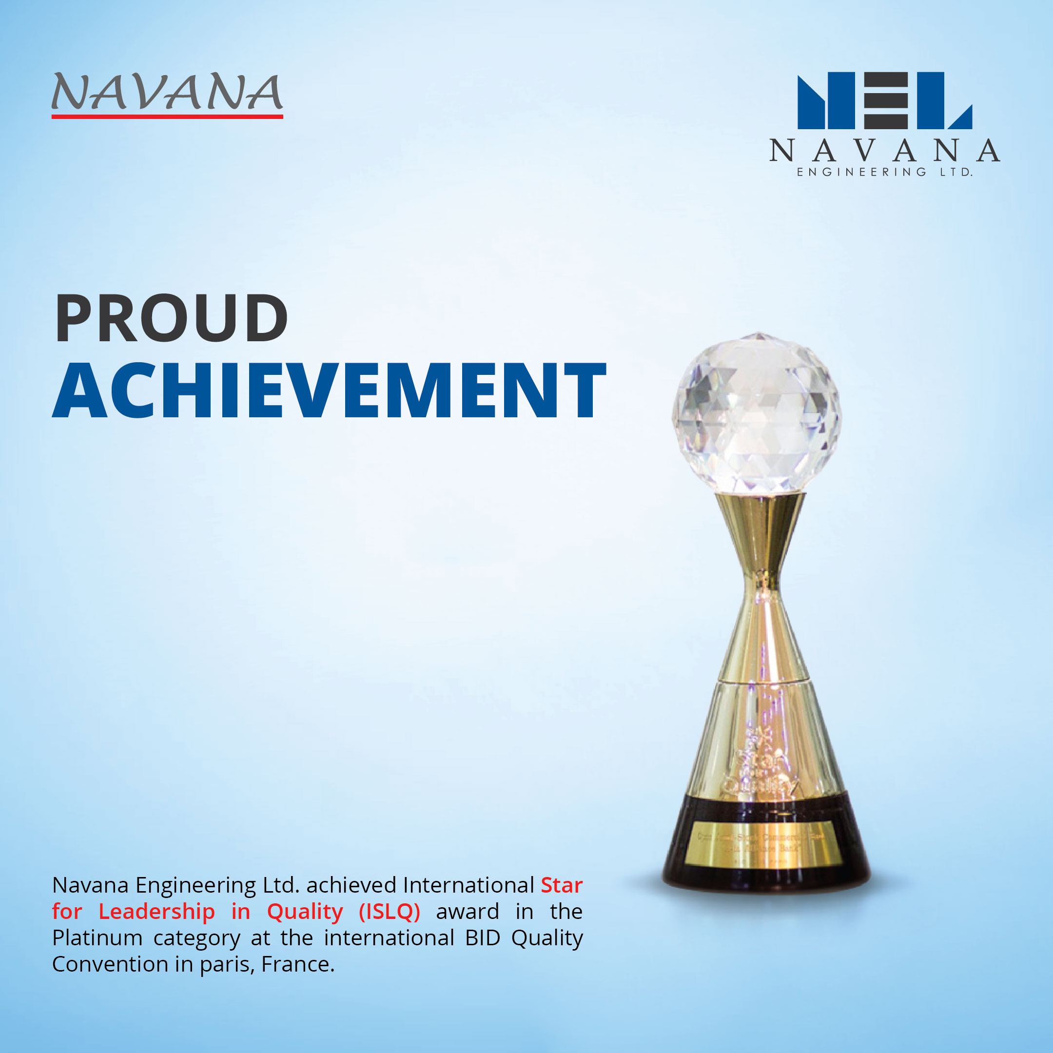 Another International Recognition We Have Achieved (BID Award)
