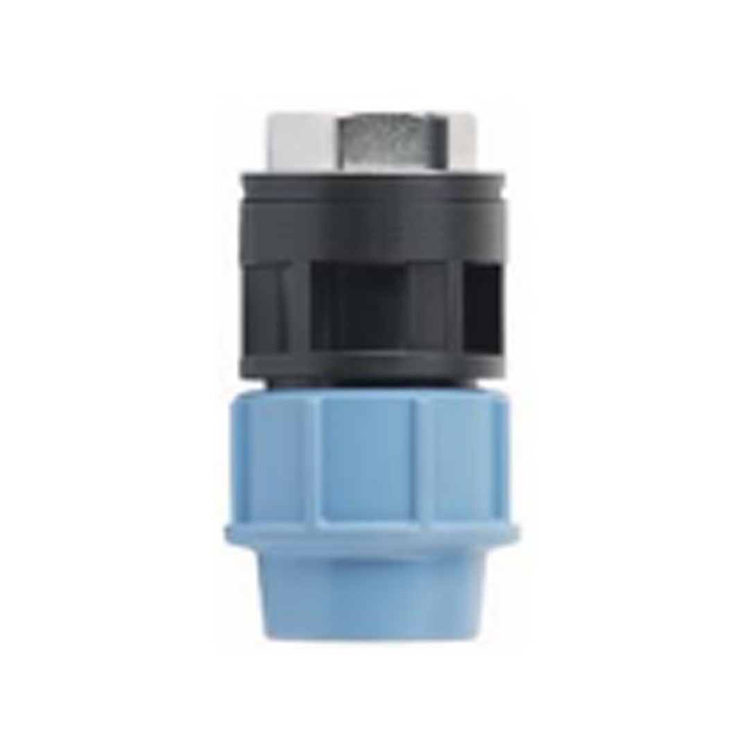 Female adapter with brass threaded insert