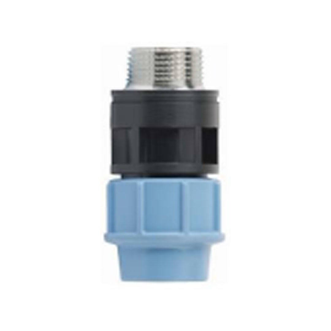 Male adapter with brass threaded insert